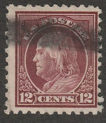 USA Scott #  435  Perf 10 SLW Franklin 12 Cents Used ( 435-4)