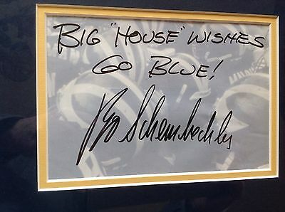 Bo Schembechler Michigan Football Legend Signed Cut & Photo Prof. Matted Framed