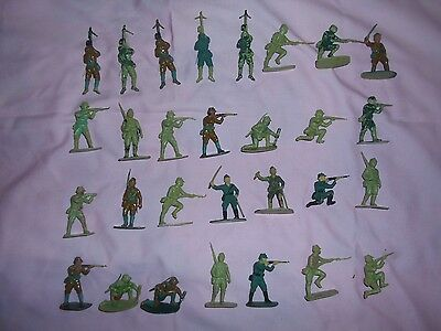 29 X Vintage Airfix Japanese Infantry Soldiers