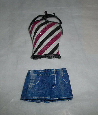 Barbie Stripes Halter Top and Short Shorts fits Petite Fashionista Dolls