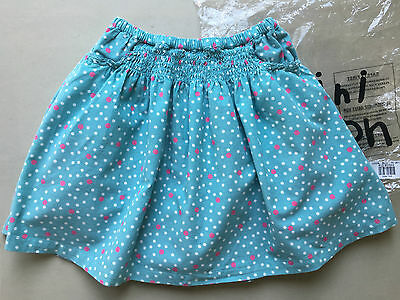 NEW Mini Boden Girls Dotty Cord Skirt 5-6 Years Turquoise Green BNWT Needlecord