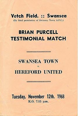 Swansea v Hereford United (Purcell Testimonial) 1968