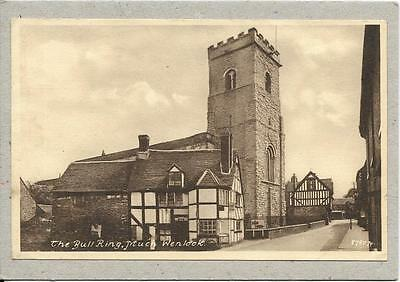 MUCH WENLOCK, The Bull Ring, Shropshire old  postcard