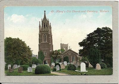 WOBURN, St Mary's Old Church & Cemetery, Bedfordshire, old postcard