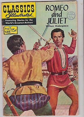 Classics Illustrated Comic Book # 134  Romeo and Juliet in very good condition