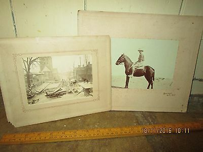 WW1 1917 dated photo of Cavalry Officer in Desert +UK Bridge Collapse / Disaster