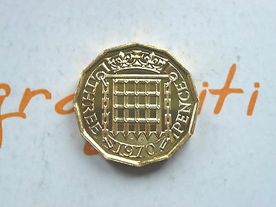 Rare 1970 Royal Mint Proof Three Pence - Last Year Of Issue Coin Hunt