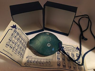 FAB new tactile ceramic langley 6 hole D CONCERT OCARINA hand made derbyshire