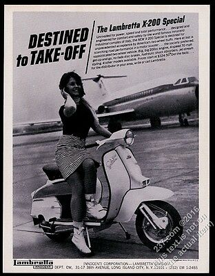 1967 Lambretta X-200 Special scooter moped photo vintage print ad