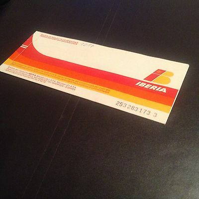 Airline used ticket - Iberia