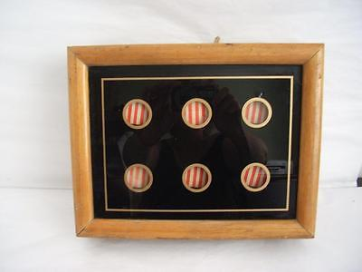 Original Antique Servants /butlers Bell Box 6 Point Striped Indicators 1880-1910