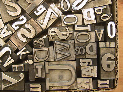 Mixed Metal Type #22 - Large Size Type - Printers Type - Letterpress Type
