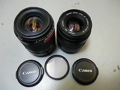 Lot 2 Digital SLR DSLR Canon Camera Lenses EF 35mm-80mm & EF 80mm-200mm
