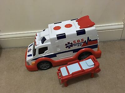 Fast Lane Ambulance Large Vehicle Toy Emergency Services Lights And Sounds
