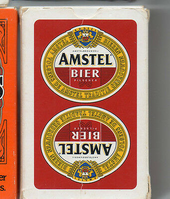 amstel bier  playing cards.