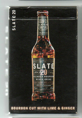 slate 20 bourbon.  playing cards. new.
