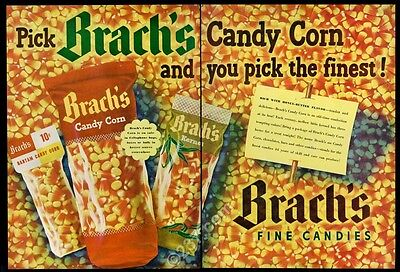 1949 Brach's candy corn big color photo vintage print ad