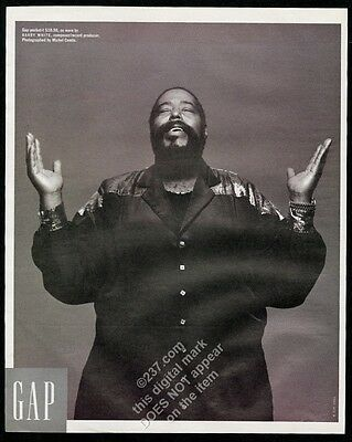 1992 Barry White photo The Gap clothes fashion store vintage print ad