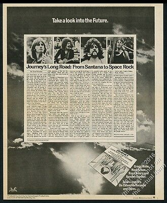 1976 Journey band 4 photo Look Into the Future album release vintage print ad