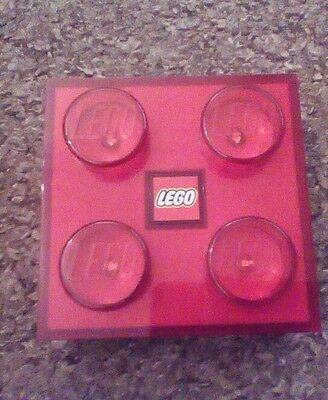 Red Lego wall light