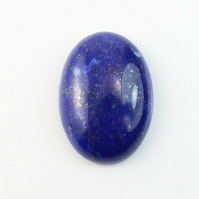 LARGE 18x13mm OVAL CABOCHON-CUT ROYAL-BLUE NATURAL LAPIS LAZULI GEMSTONE £1 NR