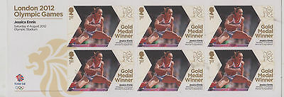 London 2012 Olympic games set of 6 mint stamps- Jessica Ennis Heptathlon