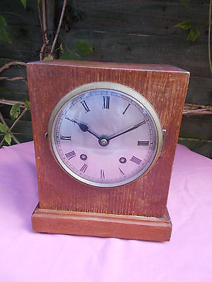 Smiths Empire Mantle Clock With Strike 8 Day Spares or Repair Restoration