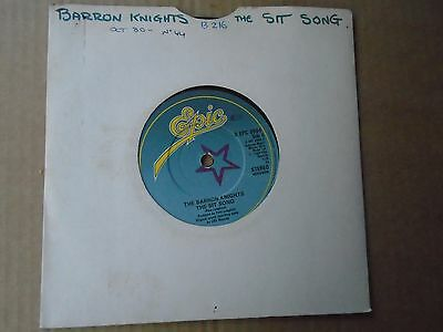 """the BARRON Knights ~ the SIT SONG / Barron's fun forty [1980] - 7"""" Sgle"""
