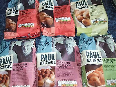 SELECTION OF PAUL HOLLYWOOD BREAD MIXES - 6 x 500g - NEW/UNOPENED/PERFECT