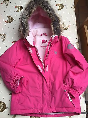 Girls Pink Muddy Puddles Winter ski Coat age 7-8years