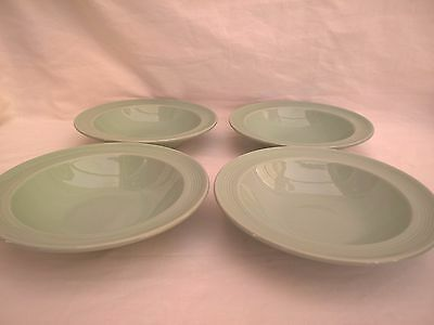 """WOODS WARE - BERYL - 4x Small 6.5"""" Fruit Dishes / Bowls - Vintage Green Utility"""