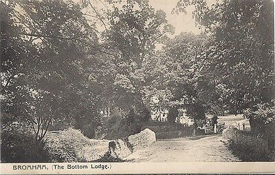 Very Rare Old Postcard - The Bottom Lodge - Bromham - Bedfordshire - C.1918