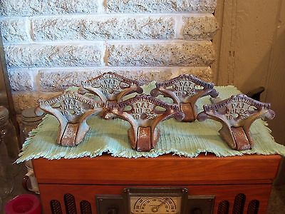 5 Antique Cast Iron S&S Mfg Co Slatington PA Roof Snow Birds Ice Guards 1923