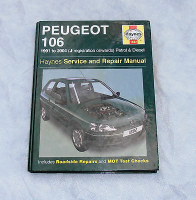 Peugeot 106 Petrol & Diesel 1991 to 2004 Haynes Manual