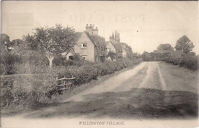 VERY RARE OLD POSTCARD - WILLINGTON VILLAGE near BEDFORD - BEDFORDSHIRE 1906