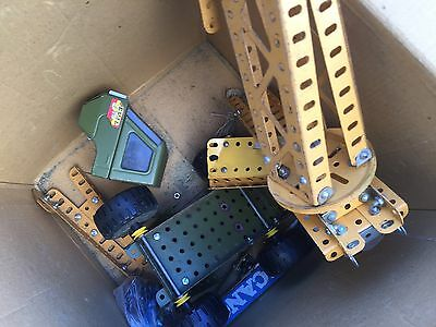 Vintage Meccano Set Crane And Army Military