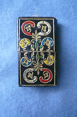Pretty Antique 1800's Gold Tooled & Coloured Leather Covered Needle Packet Box