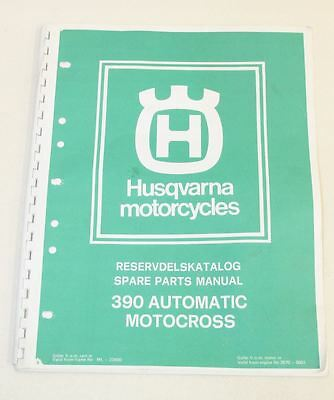 HUSQVARNA Motorcycles 390 Automatic Motocross Bike 1977 Spare Parts Manual