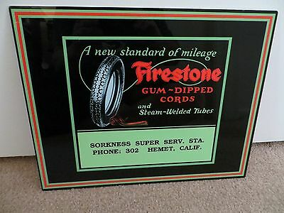Firestone Tires Vintage Advertising - Gum - Dipped Cords - 1920's