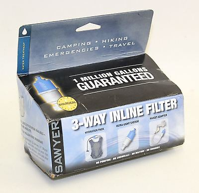 NEW SAWYER SP122 Point One Micron 3 Way Inline Biological Water Filtration Pack