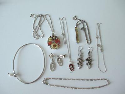 Good Collection of Various Silver Jewellery