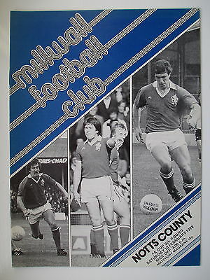 MILLWALL v NOTTS COUNTY FA CUP 77/78