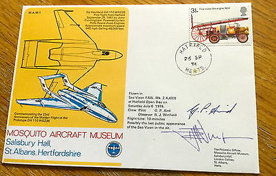 Multi Signed Raf First Day Cover Limited Edition Very Rare
