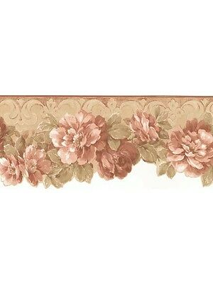 Aged Faded Floral Laser Cut Wallpaper Border CN76738DC