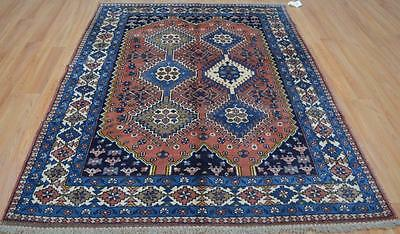 5'5 x 7'2 Fine Rare Genuine Persian Yalameh Bijar Tribal Handmade Wool Area Rug