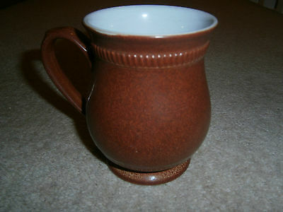 Beautiful Denby Solitaire Rust Coloured Craftsman Mug Excellent Condition