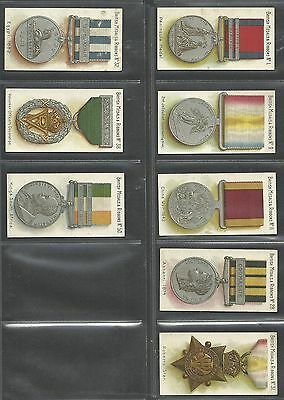 8 Original Taddy Cigarette Cards, British Medals & Ribbons
