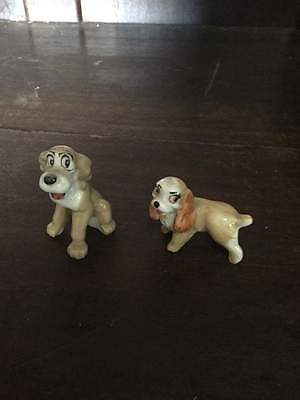 Wade Pottery Walt Disney's Lady and the Tramp Dog Figures   #260