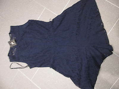 Brand New NAVY Blue LACE Hotpants PLAYSUIT 8 Party Club Short