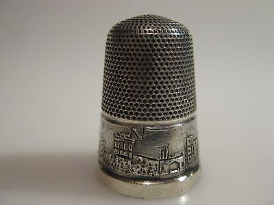 Antique English Silver Thimble WINDSOR CASTLE